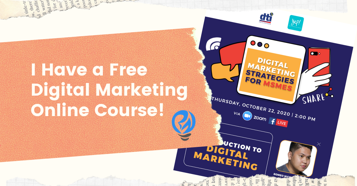 I Have a Free Digital Marketing Online Course!